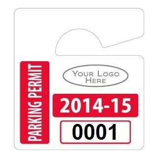 """Plastic ToughTags Parking Permit Mini Template, Reflective Hang Tags, 50 Tags / Pack, 2.75"""" x 3""""  Blank Labeling Tags"""