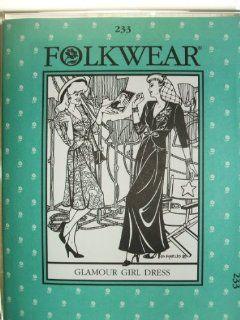 Folkwear #233 Glamour Girl Dress 1930's 1940's Hollywood Sewing Costume Pattern