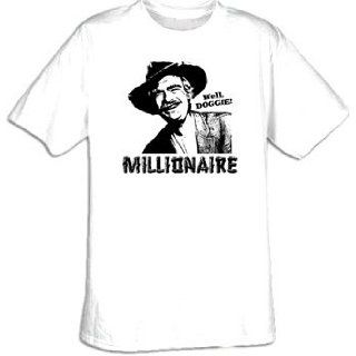 The Beverly Hillbillies MILLIONAIRE Well Doggie Adult White T shirt: Clothing