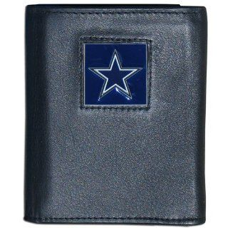 Dallas Cowboys Executive Leather Trifold Wallet in a Tin   NFL Football Fan Shop Sports Team Merchandise  Sports & Outdoors