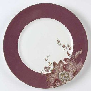 222 Fifth (PTS) Eliza Plum Dinner Plate, Fine China Dinnerware: Kitchen & Dining