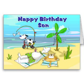 Happy Birthday Son Greeting Cards
