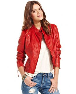 Lucky Brand Jeans Indio Leather Jacket   Women