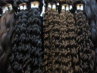 """20"""" Grade AAAA 100% Virgin Indian Remy Human Deep Wave Weft Soft & Silky Hair Extension Hair   Color #1B (Off Black) : Very Curly Indian Remi Hair : Beauty"""