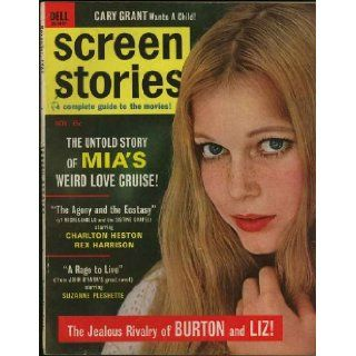 Screen Stories Magazine; November 1965 Mia Farrow cover (Vol. 64, No. 11): Tuesday Weld, Dean Martin, Frank Sinatra, Steve McQueen, Mia Farrow, Ronnie Lodge: Books