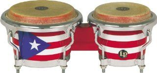 LPM199 PR LPMC Mini Tunable Puerto Rican Flag Wood Bongos: Musical Instruments