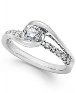 Sirena Diamond Ring, 14k White Gold Diamond Bridal Ring (1/5 ct. t.w.)   Rings   Jewelry & Watches