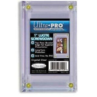 Ultra Pro 1 Inch Lucite Screwdown (Quantity of 10)  Sports Related Display Cases  Sports & Outdoors