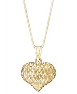 Giani Bernini 24k Gold over Sterling Silver Necklace, Filigree Heart Locket   Necklaces   Jewelry & Watches