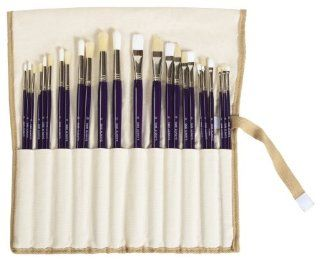 Artist Paint Brush Set, 24 Piece, by SMB Always (Dark Purple Handles)  Artists Paintbrush Sets