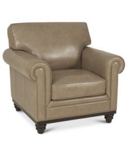 Lear Leather Living Room Chair, Swivel 40W x 40D x 32H   Furniture
