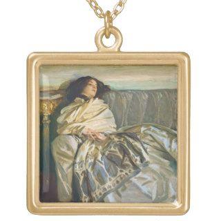 Nude on a Blue Cushion, 1917 (oil on linen) Pendant