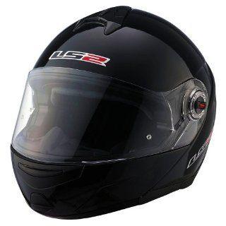 LS2 Helmets FF394 EPIC Modular Helmet (Gloss Black, Large) Automotive