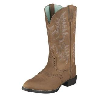 Ariat Women's Heritage Stockman Saddle Vamp Cowgirl Boot Round Toe: Shoes