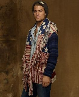 Denim & Supply Ralph Lauren Sweater, Reversible Shawl American Flag Cardigan   Sweaters   Men