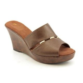 White Mountain Outdream Womens Size 7 Brown Slides Sandals Shoes