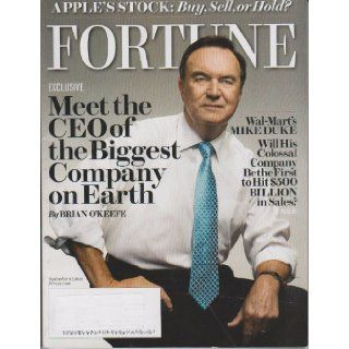 Fortune Magazine September 27 2010 Mike Duke Wal mart (Volume 162 Number 5) Fortune Magazine Books