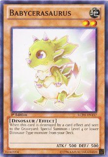 Yu Gi Oh   Babycerasaurus (LCJW EN157)   Legendary Collection 4 Joey's World   1st Edition   Common Toys & Games