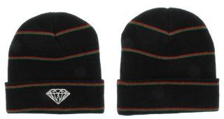 Diamond Supply Co Beanie Hats (Black/white/blue) : Sports Fan Beanies : Sports & Outdoors