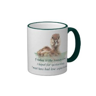 Funny Quote about Life Sucks Cute Angry Duck, Bird Mugs