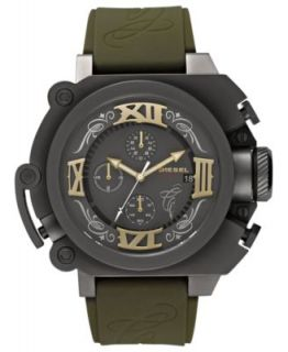 Diesel Watch, Mens Black Silicone Strap 50mm DZMC0001   Mister Cartoon Limited Edition   Watches   Jewelry & Watches