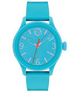ESQ Movado Watch, Unisex Swiss ESQ One Turquoise Silicone Strap 43mm 07301439   Watches   Jewelry & Watches