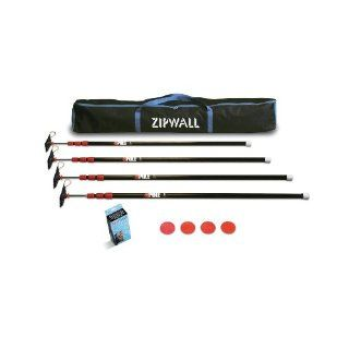 ZipWall ZP4 Low Cost Spring Loaded Pole Kit with Carry Bag   Zipwall System