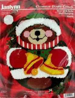 Janlynn Christmas Plastic Canvas Bear with Bells Wall Hanging #140 91