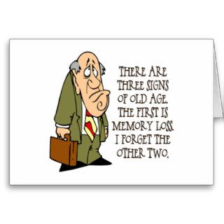 Funny Senior Citizen Gift Greeting Cards