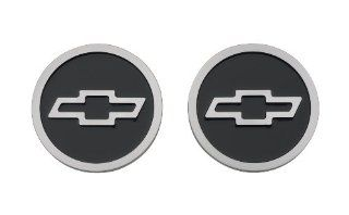 Proform 141 232 Black Billet Aluminum Freeze Plug Insert with Raised Chevy Bowtie Logo for Small Block Chevy   Pair: Automotive