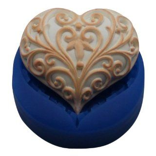 First Impressions Molds H139 Silicone Mold, Filigree Heart: Kitchen & Dining
