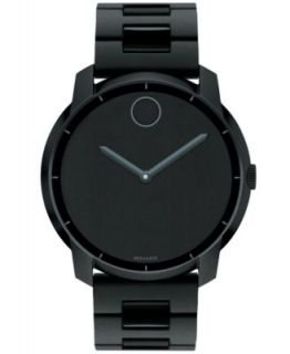 ESQ Movado Watch, Mens Swiss Fusion Black Ion Plated Stainless Steel Bracelet 44mm 07301422   Watches   Jewelry & Watches