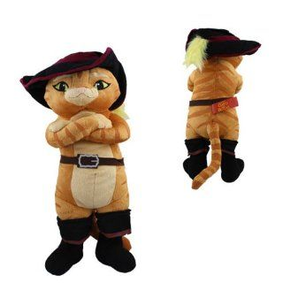 Hot  Shrek Puss In Boots 36cm Authentic Soft Plush Toy Doll  Early Development Activity Centers  Baby