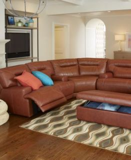 Ricardo Leather 3 Piece Power Reclining Sectional Sofa (Sofa, Wedge and Loveseat)   Furniture