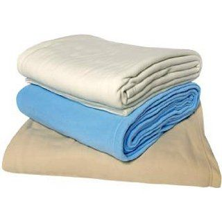"Fleece Blanket   King Size   108"" x 90""   Tan : Bed Blankets : Everything Else"