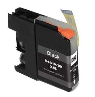 Discountinkllc � 1 Pack Brother LC 107 LC107 BK XXL Black Super Hy Compatible Ink Cartridge