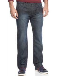 Buffalo David Bitton Driven Fit Straight Leg Jeans, Slight Sandblasted Wash   Jeans   Men