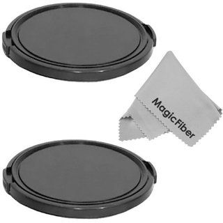 (SET OF 2) 67MM Snap On Lens Cap For CANON (18 135mm EF S IS STM, EF 70 200mm f/4L), NIKON (18 105mm f/3.5 5.6 AF S DX VR ED Nikkor, 70 300mm f/4.5 5.6G, Nikkor AF S DX 18 135MM) Lenses+ Premium MagicFiber Microfiber Cleaning Cloth  Camera Lens Caps  Cam