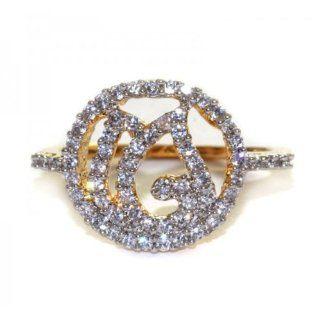 Scrunchh Diya Glow Ring with CZ: Jewelry