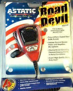 Redman Cb Tuned Astatic RD104E Road DEVIL 4 PIN Power Mic Galaxy Cobra Cb Ham Radio Electronics