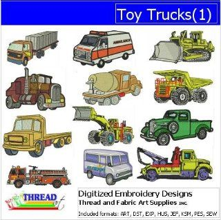 Digitized Embroidery Designs   Toy Trucks(1)   CD
