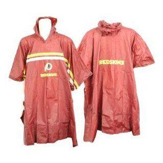 Washington Redskins NFL Waterproof Hooded Rain Poncho   Size Big  Sports Fan Outerwear Jackets  Sports & Outdoors