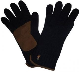 Men's Ralph Lauren 100% Merino Wool Gloves Hunter Navy at  Men�s Clothing store