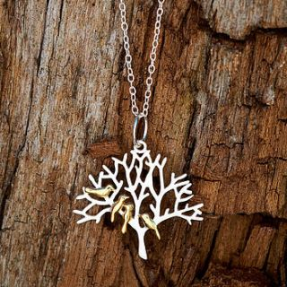 silver bird necklace tweeting by lauryn james