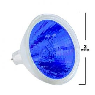 50W MR16 Bulb with Blue Light   Halogen Bulbs