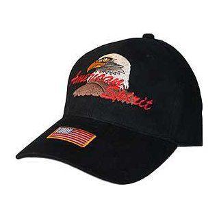 US Military Patriotic Adjustable Cap Hat   Military   American Spirit Eagle Logo: Clothing