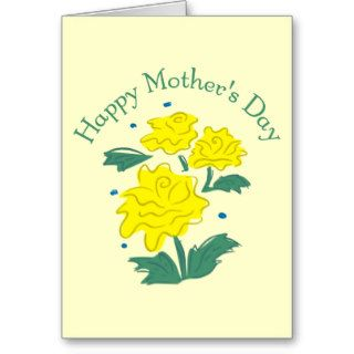 Yellow Flowers for Mother's Day Greeting Card