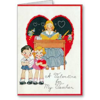 VALENTINES DAY GREETING CARDS FOR TEACHER   SCHOOL