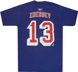 New York Rangers Nikolai Zherdev Name and Number T Shirt (XXL)  Sports Related Merchandise  Sports & Outdoors