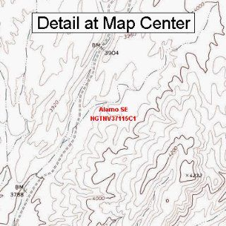 USGS Topographic Quadrangle Map   Alamo SE, Nevada (Folded/Waterproof)  Outdoor Recreation Topographic Maps  Sports & Outdoors